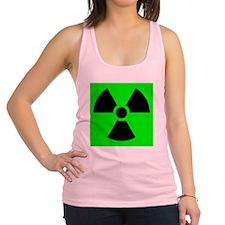 Green Radioactive Sign Racerback Tank Top