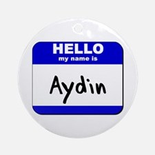 hello my name is aydin  Ornament (Round)