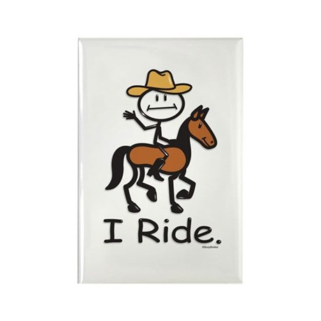 Western horse riding Rectangle Magnet (10 pack)