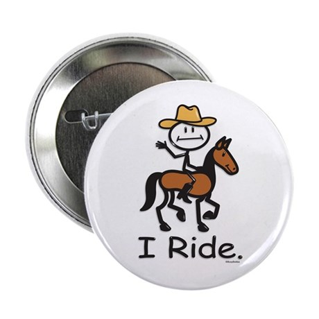 Western horse riding Button