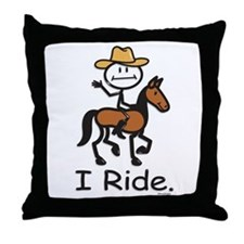 Western horse riding Throw Pillow