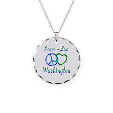Peace Love Washington Necklace