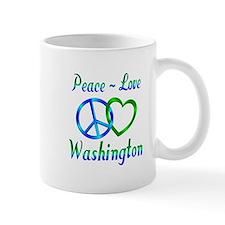 Peace Love Washington Mug