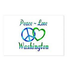 Peace Love Washington Postcards (Package of 8)