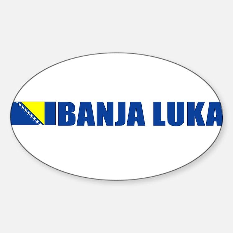Banja Luka, Bosnia Oval Decal