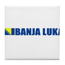 Banja Luka, Bosnia Tile Coaster