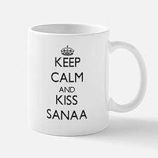 Keep Calm and kiss Sanaa Mugs