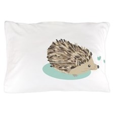 His Hedgehog Couple Pillow Case