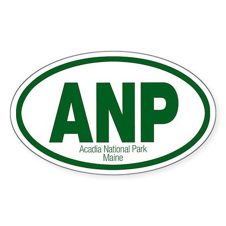 Acadia National Park Oval Sticker