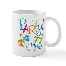 77th Birthday Party Small Mugs