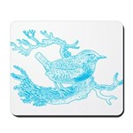Old Line Drawing Bird Mousepad