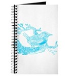 Old Line Drawing Bird Journal