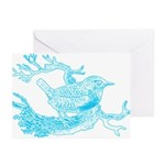 Old Line Drawing Bird Greeting Cards (Pk of 10