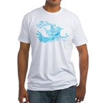 Old Line Drawing Bird Fitted T-Shirt