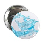 Old Line Drawing Bird Button
