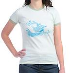 Old Line Drawing Bird Jr. Ringer T-Shirt