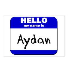 hello my name is aydan  Postcards (Package of 8)