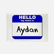 hello my name is aydan Rectangle Magnet