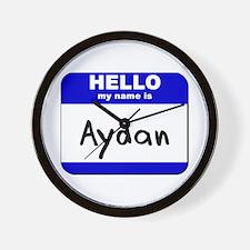 hello my name is aydan  Wall Clock