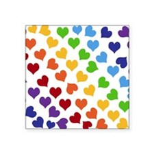Colorful Rainbow Hearts Sticker