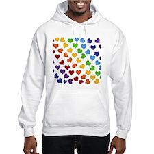 Colorful Rainbow Hearts Jumper Hoody