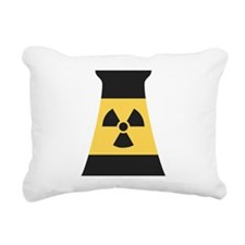 Nuclear Smokestack Rectangular Canvas Pillow