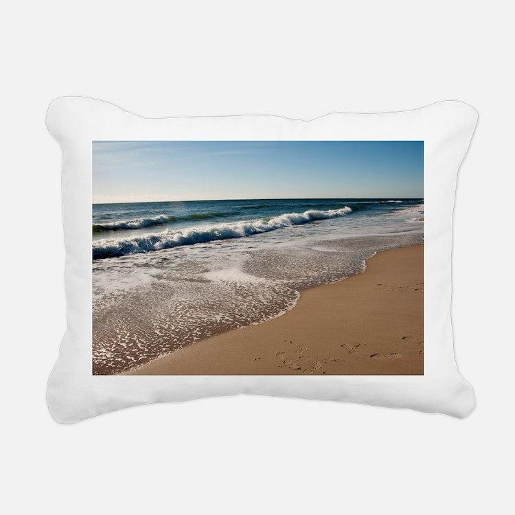 New Jersey beach Rectangular Canvas Pillow