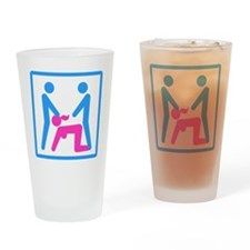Kamasutra - Menage a Trois (MFM) Drinking Glass