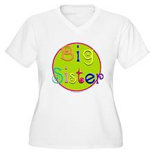 Big Sister/colorful circle T-Shirt