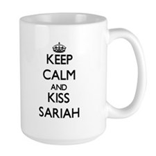 Keep Calm and kiss Sariah Mugs