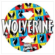 Wolverine Circle Collage Wall Art Poster