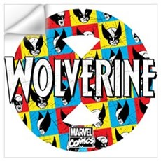 Wolverine Circle Collage Wall Art Wall Decal