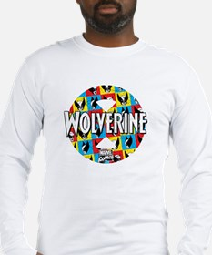 Wolverine Circle Collage Long Sleeve T-Shirt