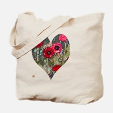 Poppy Heart for t-shirts Tote Bag