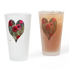 Poppy Heart for t-shirts Drinking Glass