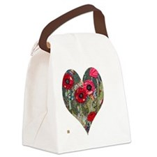 Poppy Heart for t-shirts Canvas Lunch Bag