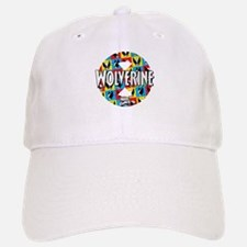 Wolverine Circle Collage Baseball Baseball Cap