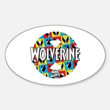 Wolverine Circle Collage Decal