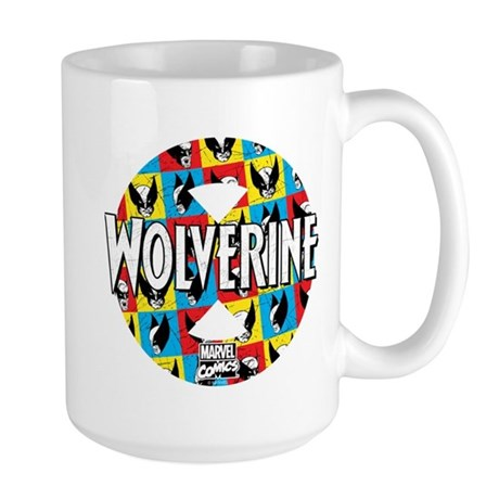 Wolverine Circle Collage Large Mug