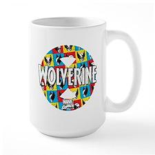 Wolverine Circle Collage Mug