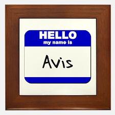hello my name is avis  Framed Tile