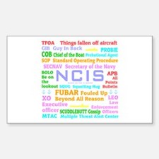 NCIS TV Sticker (Rectangle)