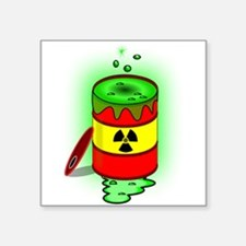 Toxic Spill Barrel Sticker