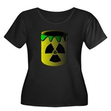 Nuclear Waste Barrel Plus Size T-Shirt