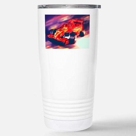 F1 Racer Stainless Steel Travel Mug