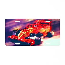 F1 Racer Aluminum License Plate
