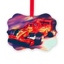 F1 Racer Picture Ornament