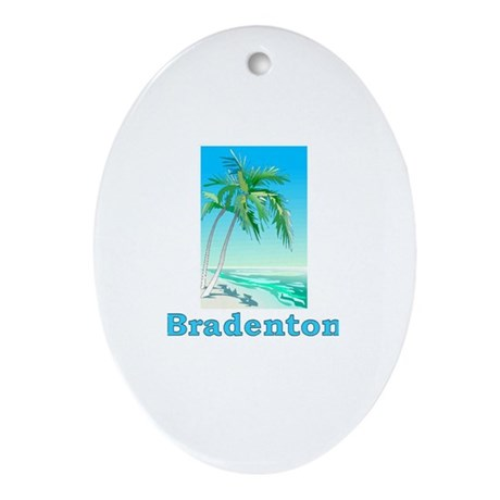 Bradenton, Florida Oval Ornament