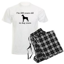 40 birthday dog years doberman Pajamas