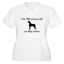 40 birthday dog years doberman Plus Size T-Shirt